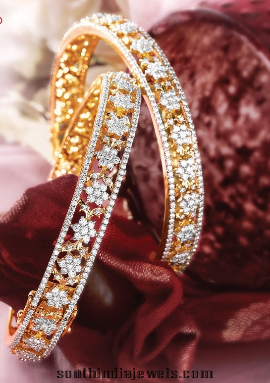 Latest gold diamond bangles from GRT jewellers