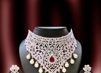 Diamond choker costume jewellery