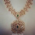 Latest Diamond Long Necklace Design