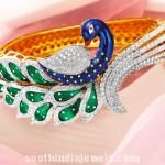 Diamond Peacock Bangle
