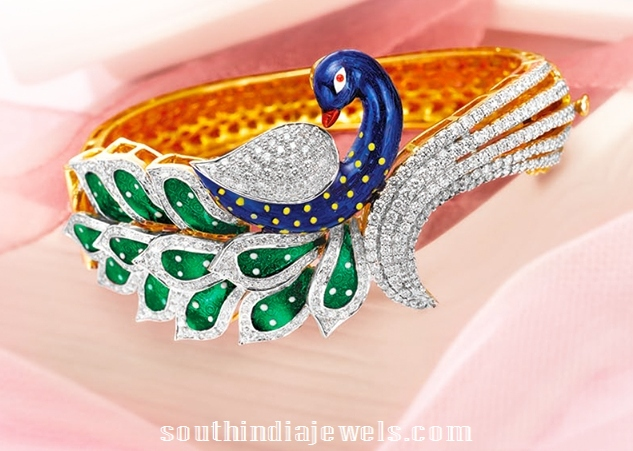 Diamond Peacock Bangle From GRT Jewellers