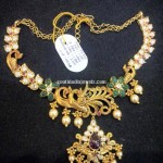 Gold Peacock Short Necklace