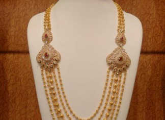 Gold Balls Mala with Side diamond Mogappu
