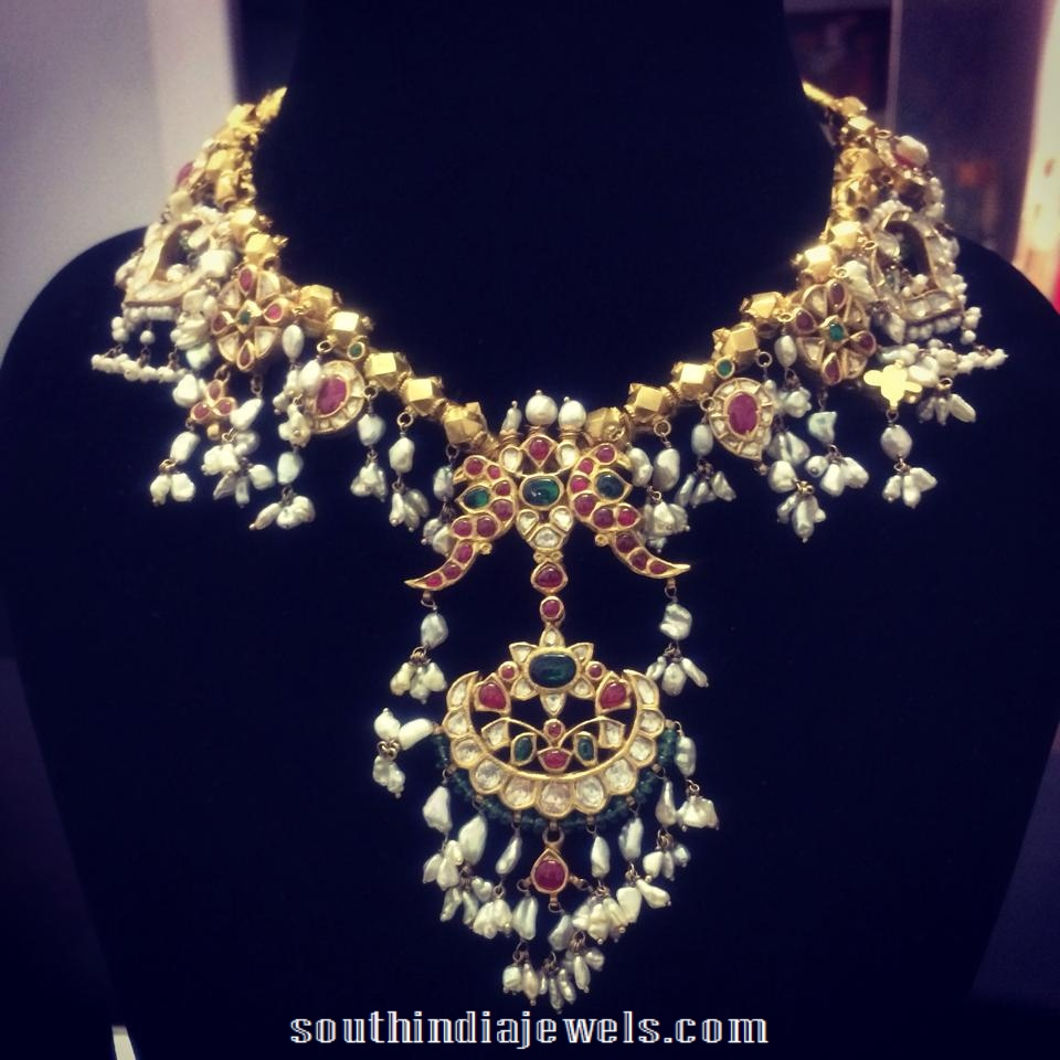 Latest Gottapusalu necklace design 2015