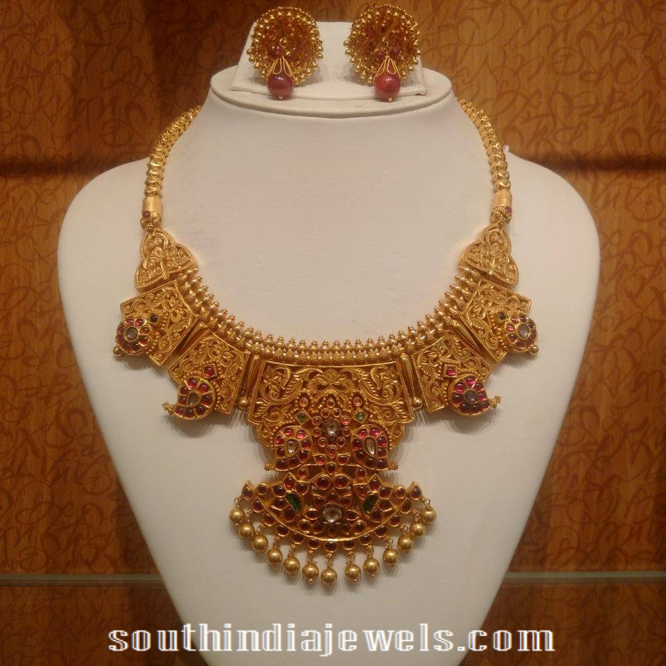 Traditional Mango Mala Necklace with jhumkas