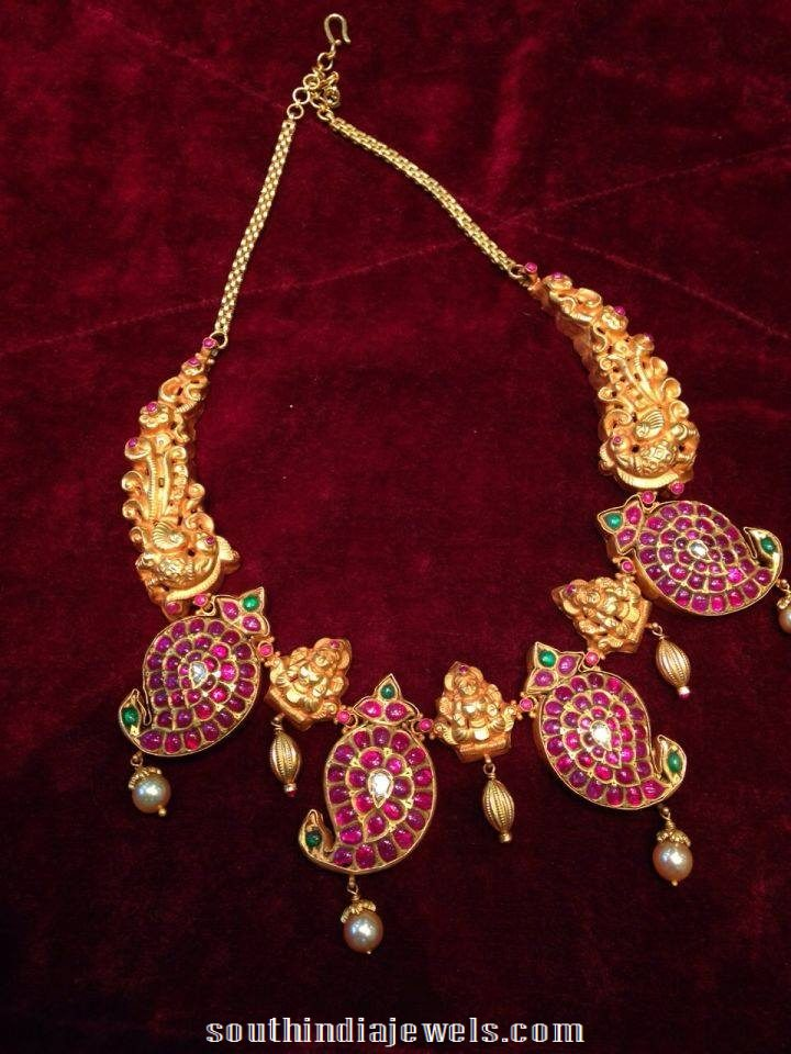 Heritage temple jewellery latest design