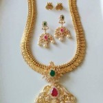 Imitation American Diamond Kasumalai Necklace Set