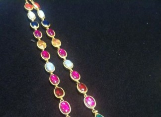 Latest Navarathna Necklace Model