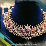 Gold Navarathna Tussi Necklace