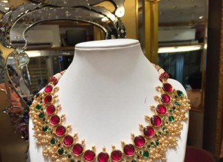 Latest guttapusalu necklace design