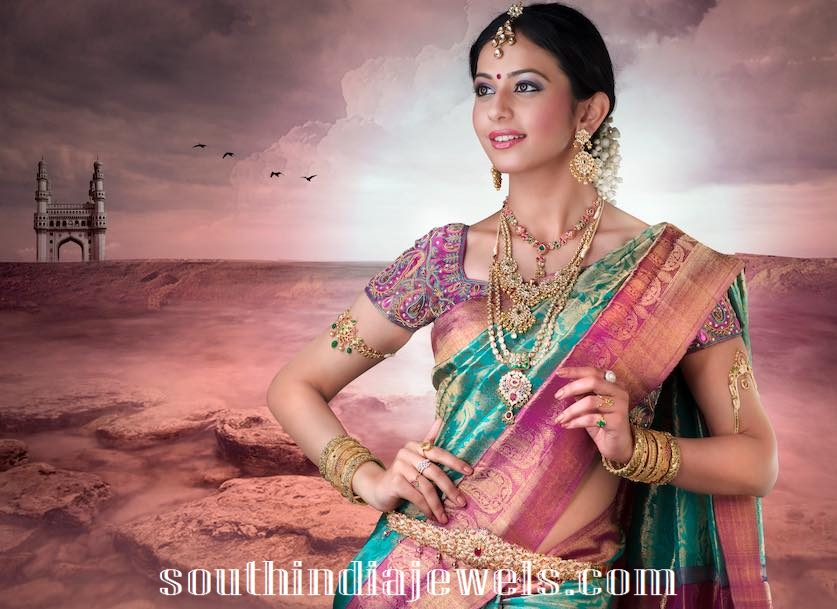 Rakul Preet singh in traditional jewelleries