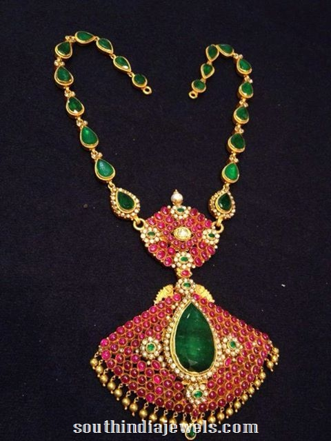 Puby Emerald Pendant and chain