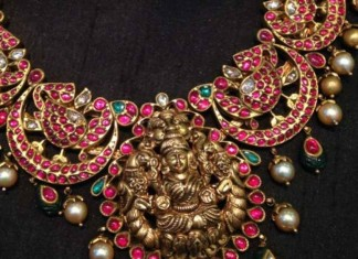 Gold ruby antique necklace from NAJ