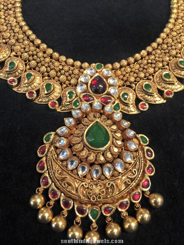 Bridal Choker Necklace Design ~ South India Jewels