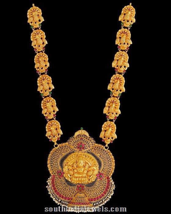 Temple Jewellery Long necklace from Kalyan Jewellers
