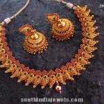 Traditional Imitation Mango Necklace with Jhumka