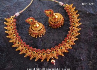 Traditional Mango Necklace With Jhumka