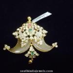 Gold Elephant Tusk Pendant