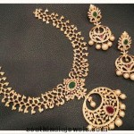 Designer 1 Gram gold necklace sets with earrings