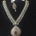 Diamond Necklace Set With Earrings
