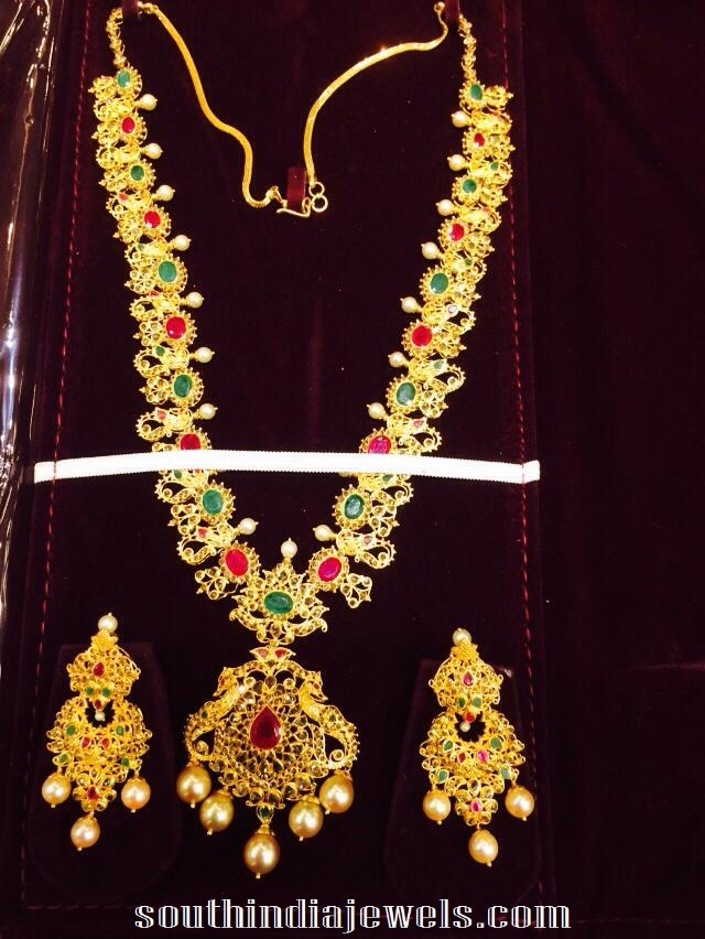 south latest model arun jewels jewllers tussi necklace gold new india