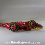 Traditional Ruby Emerald Bangle