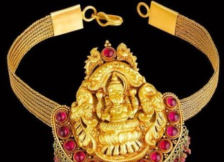 temple jewellery choker from kalyan jewellers