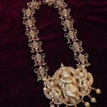 Antique Necklace With Krishna Pendant