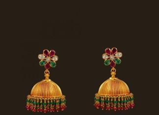 22k traditional gold jhumkas from VBJ