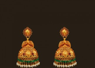 Antique Gold Peacock Jhumka from VBJ