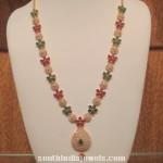 CZ Stone Floral Long Haram Design