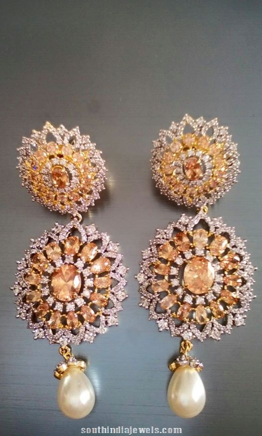 Designer Earrings with precious AD stones