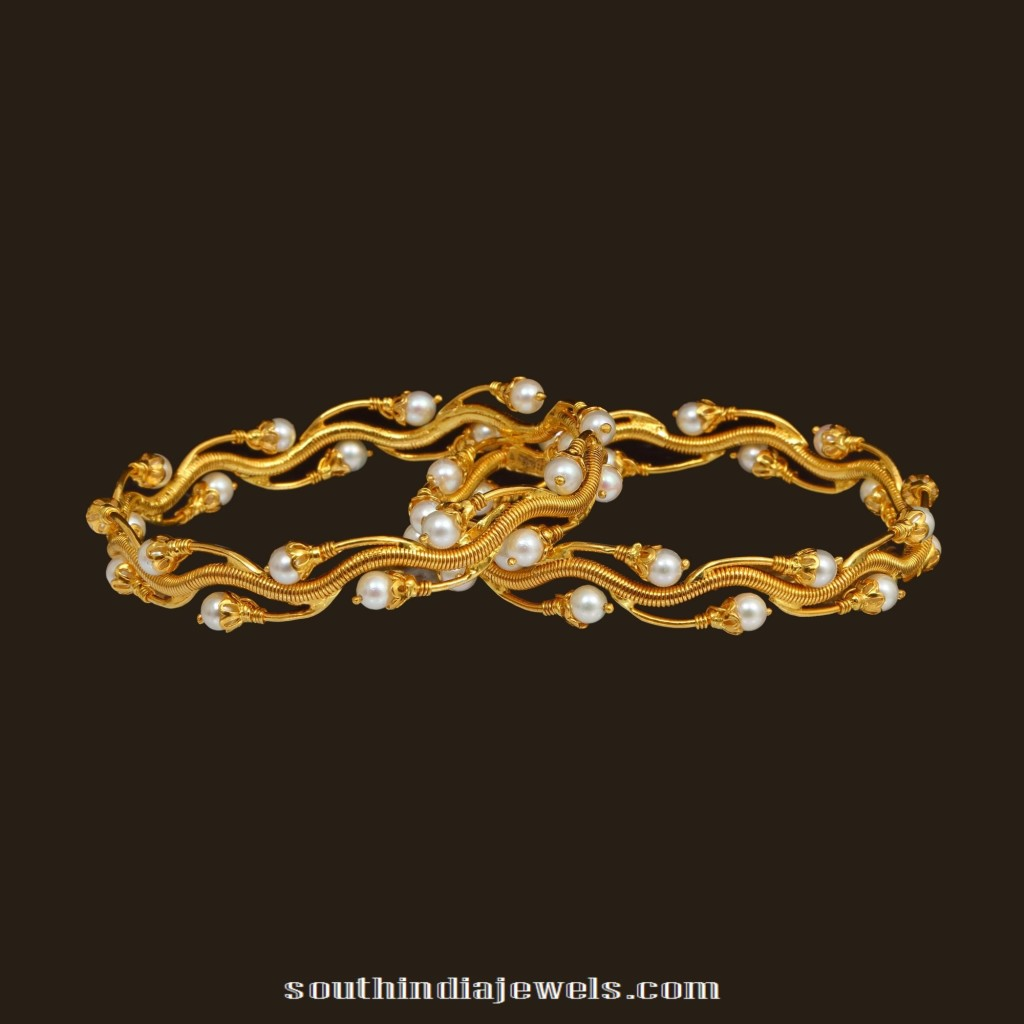 Designer Pearl Bangles South India Jewels