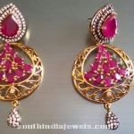 Stylish Designer Ruby Earrings