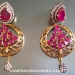 Stylish Designer Ruby Earrings