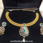 Diamond Necklace Set with Jhumkas
