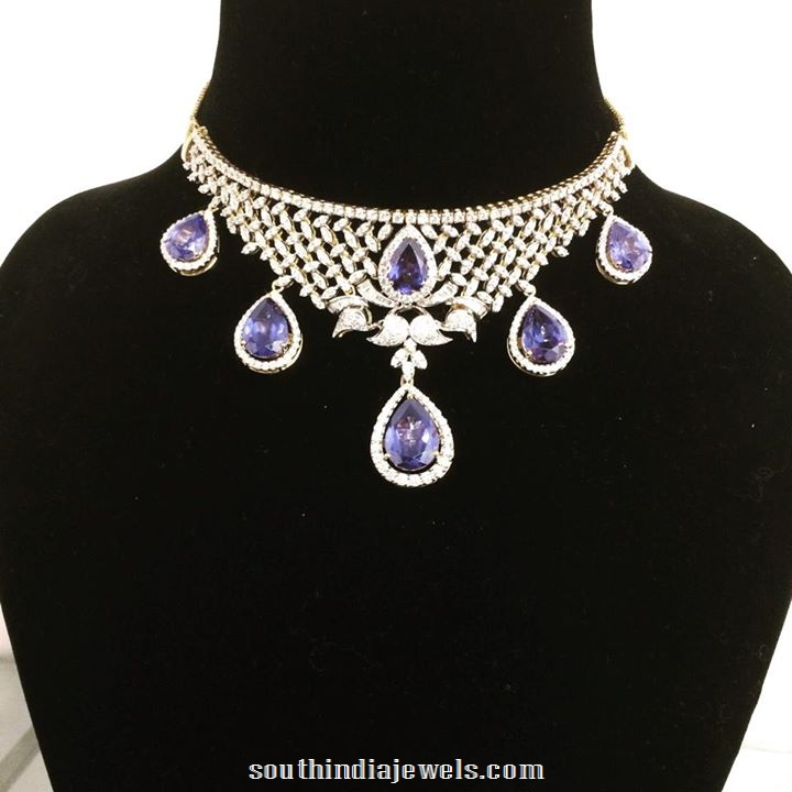Diamond Choker necklace set from Parnicaa jewellers