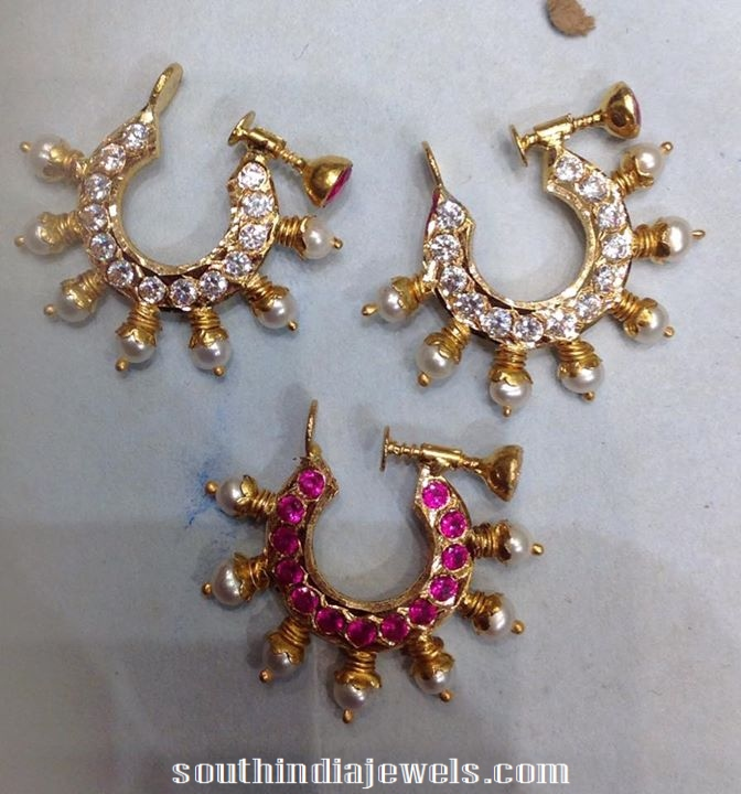gold ring type earrings