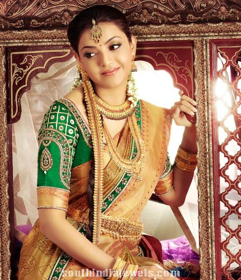 Kajal agarwal gold jewelleries designs