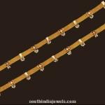 Gold Kundan Anklet