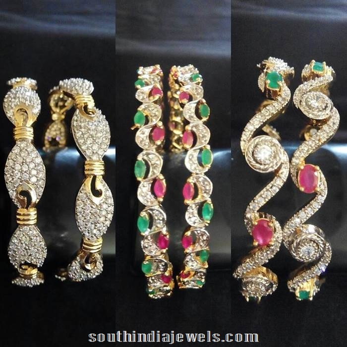Latest imitation CZ stone bangle designs