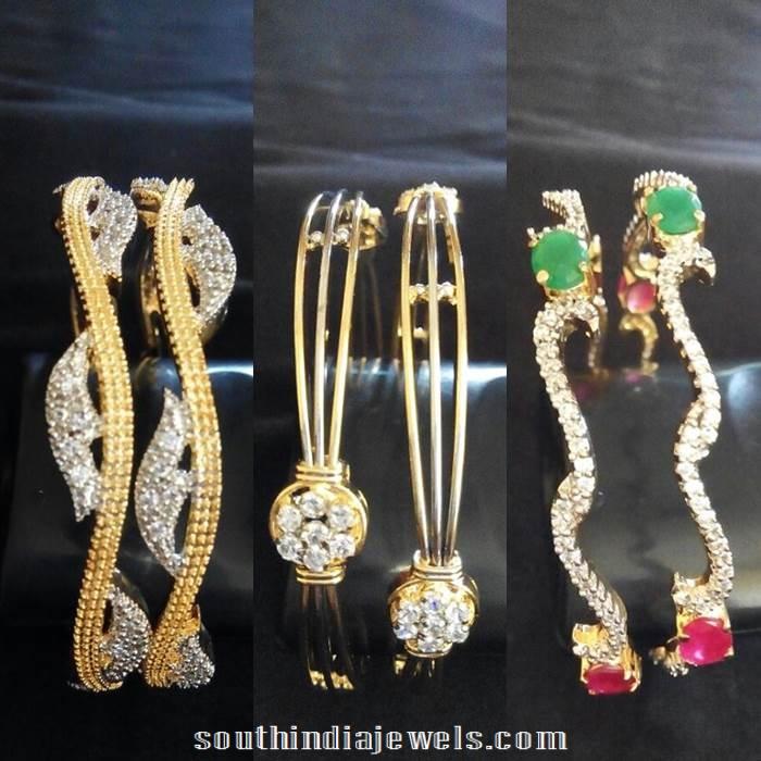 Latest imitation CZ stone bangle designs