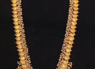 Temple Jewellery long kasumalai haram
