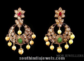Polki chandbali from MOR jewellers