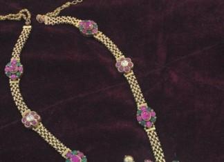 Antique Polki diamond haram latest model