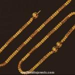 22K Gold Fancy Anklet