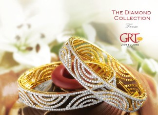 Diamond Bangles latest model from GRT jewellers