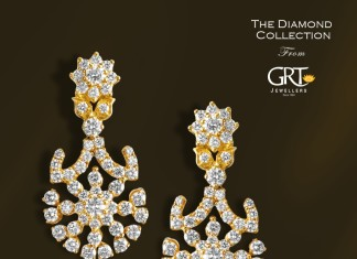 Diamond Earrings designs from GRT Jewellers