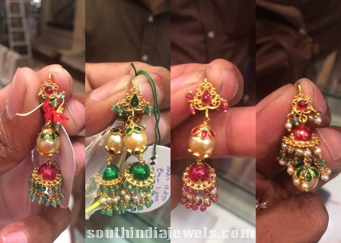 gold mini bali earrings