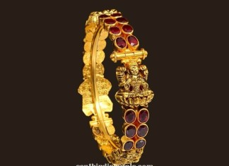 traditional gold antique lakshmi bangle from VBJ